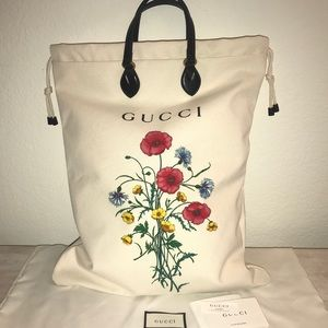 Authentic Gucci laundry floral bloom blossom tote